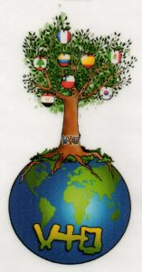 l'arbre du Prado, sur une planisphère du monde.