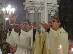 Mgr Dominique BLANCHET et Alain ARNAUD (diacre)
