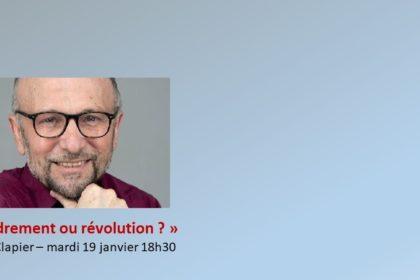 La conférence (en replay) de William Clapier