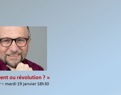 La conférence (en replay) de William Clapier
